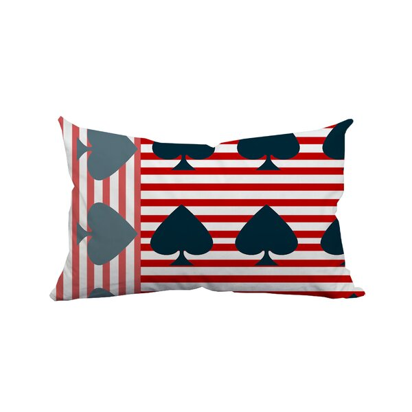 Ace of Spades Flag Striped Lumbar Pillow by Positively Home