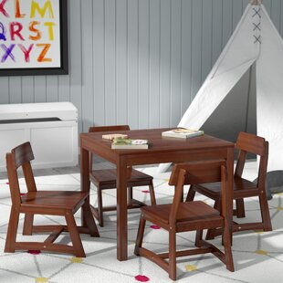 Check Prices Anneri 5 Piece Square Table and Chair Set By Viv + Rae