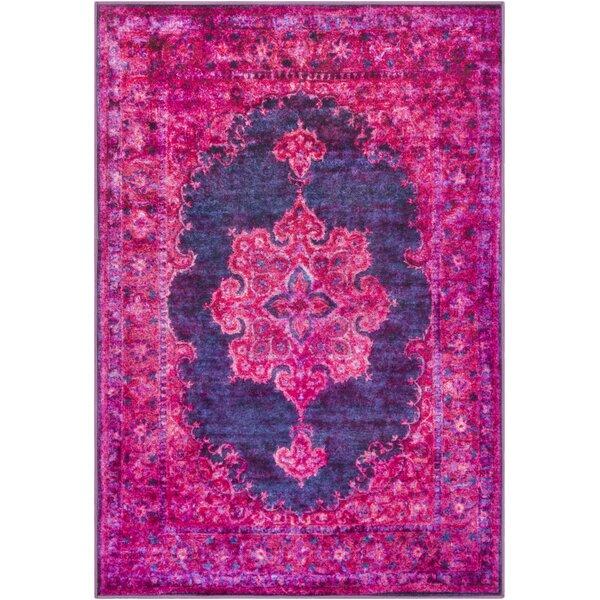 Ryhill Bright Pink/Dark Purple Area Rug by Bungalow Rose