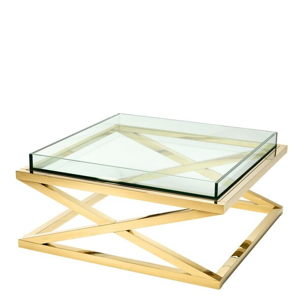 Low Price Curtis Coffee Table With Tray Top