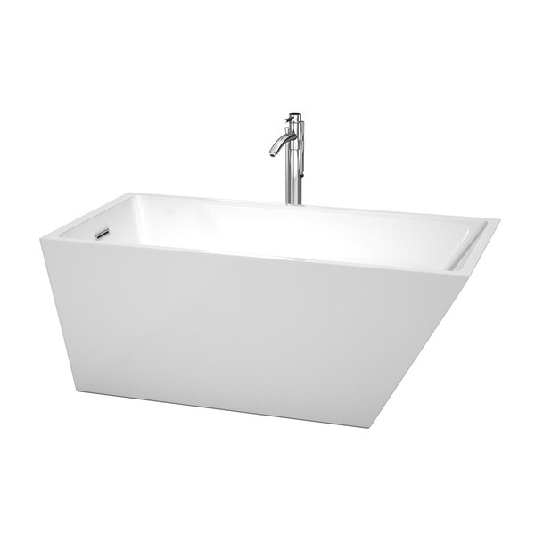Hannah 59 x 29.5 Soaking Bathtub by Wyndham Collection