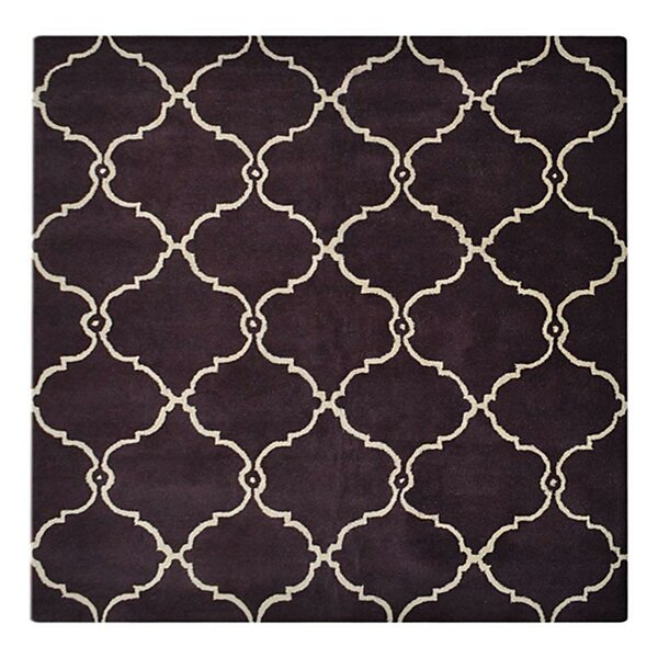 Rocky Hand-Tufted Wool Brown/Beige Area Rug by Longshore Tides