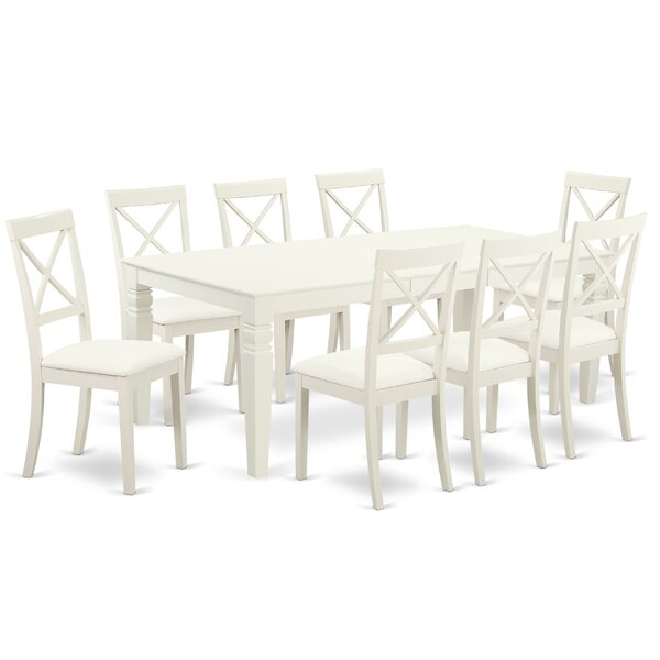 Beesley 9 Piece Solid Wood Dining Set by Darby Home Co