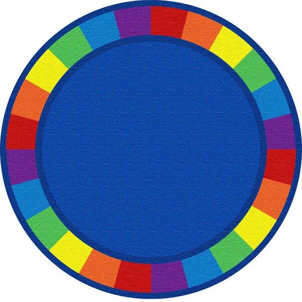 Blue Circle Area Rug by Kid Carpet