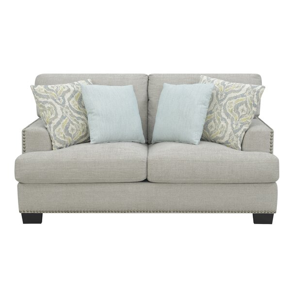 Elvira Driftwood Standard Loveseat By Highland Dunes