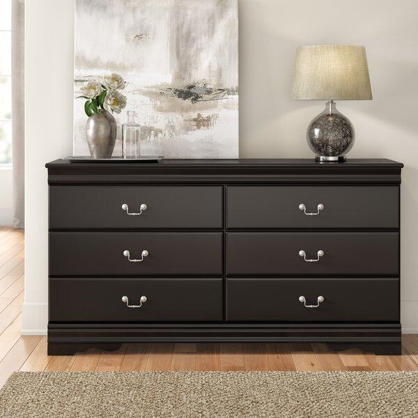 Carpenter 6 Drawer Double Dresser by Three Posts