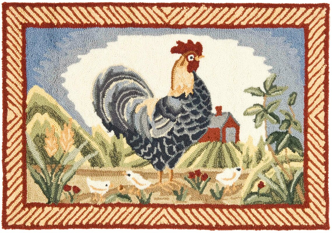 Rooster Hooked Rugs Rooster Kitchen Rugs French Country