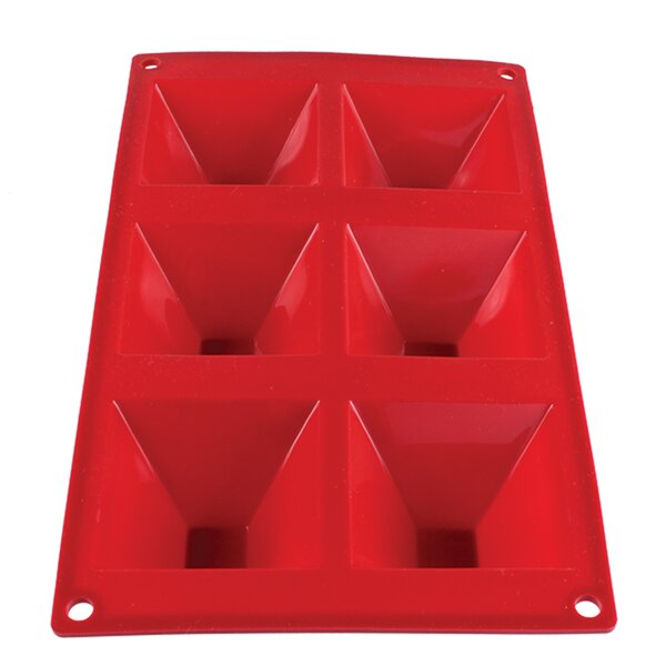 6 Cup Non-Stick 3 Oz Pyramid High Heat Silicone Baking Mold by Thunder Group Inc.