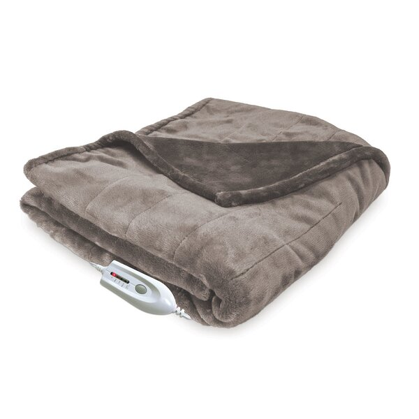 Silky Plush Electric Heated Throw by Serta