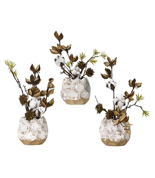 Branch in Planter (Set of 3) by Gracie Oaks