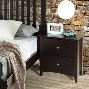 Avalon 2 Drawer Nightstand by Red Barr..