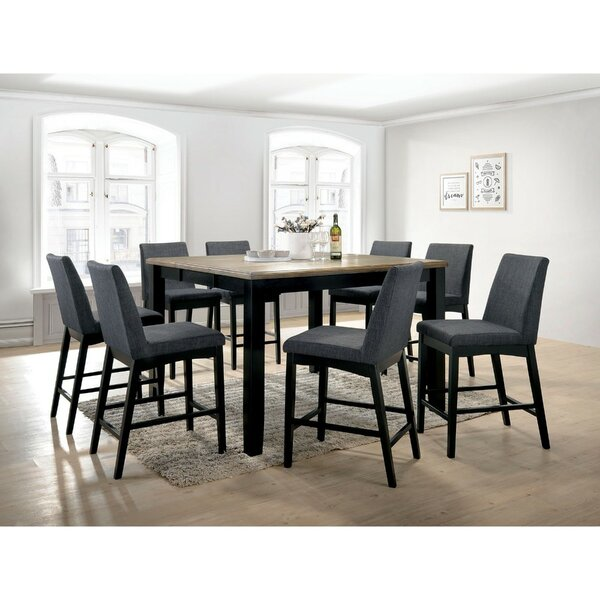 Reiff Contemporary Style Counter Height Wire 9 Piece Pub Table Set by Ebern Designs