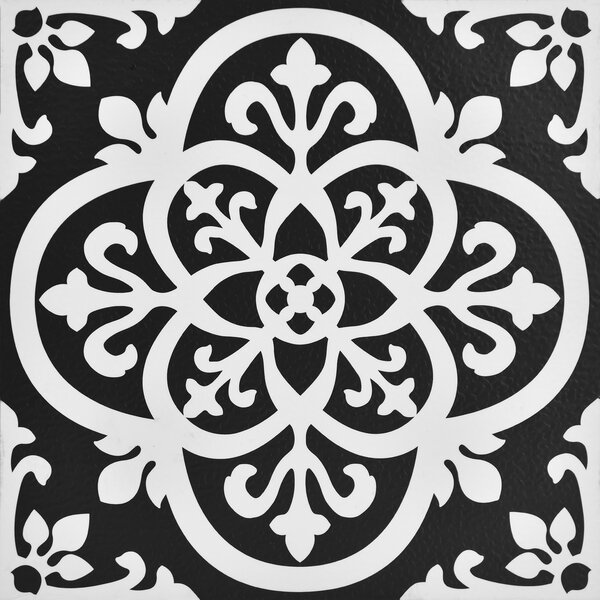 Gothic Peel and Stick 12 x 12 Vinyl Tile in Black by WallPops!