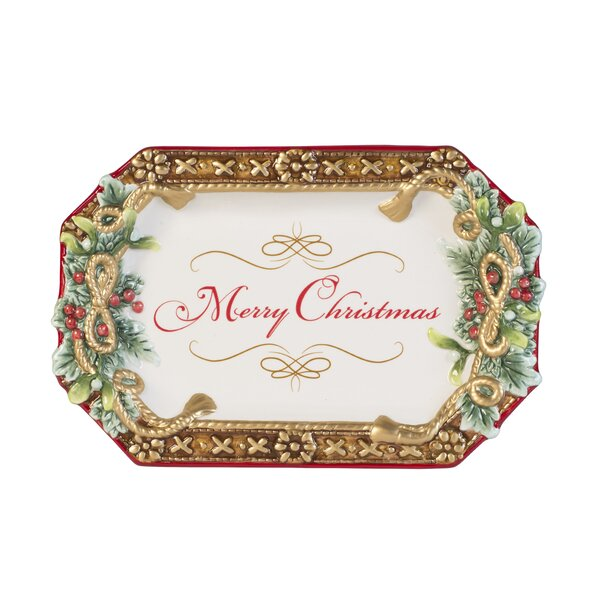 Yuletide Holiday Appetizer Platter by Fitz and Floyd