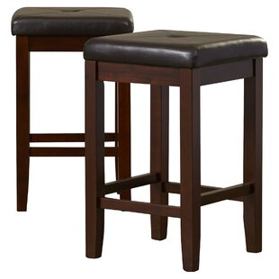 Read Reviews Frida 24 Bar Stool with Cushion (Set of 2) by Darby Home Co