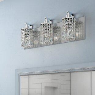 Price comparison Descoteaux 3-Light Vanity Light By Lark Manor