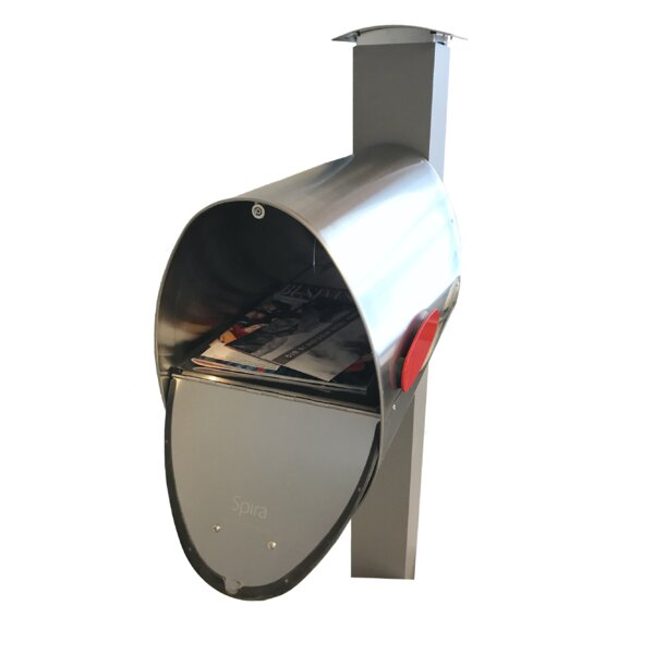 Mailbox with Post Included by Spira Mailbox