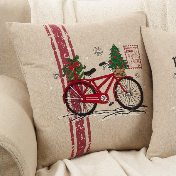 Naveen Bicycle Throw Pillow by The Holiday Aisle