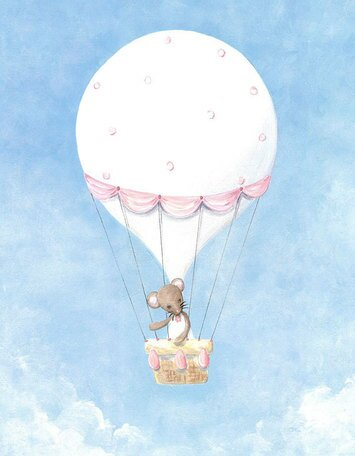 Little Mouse Balloon by Kris Langenberg Canvas Art by Oopsy Daisy