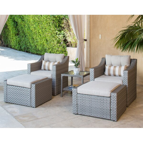 Finnley 5 Piece Sofa Seating Group with Cushions by Longshore Tides