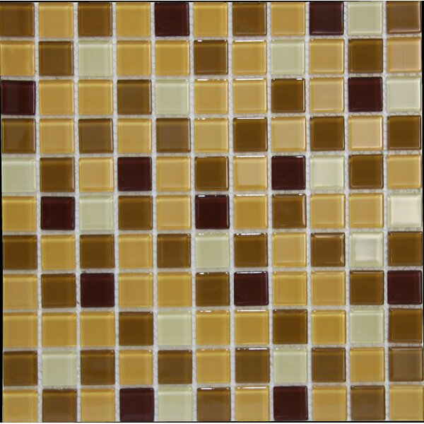 Miscellaneous  1 x 1 Glass Mosaic Tile in Siena by Crystalcor USA