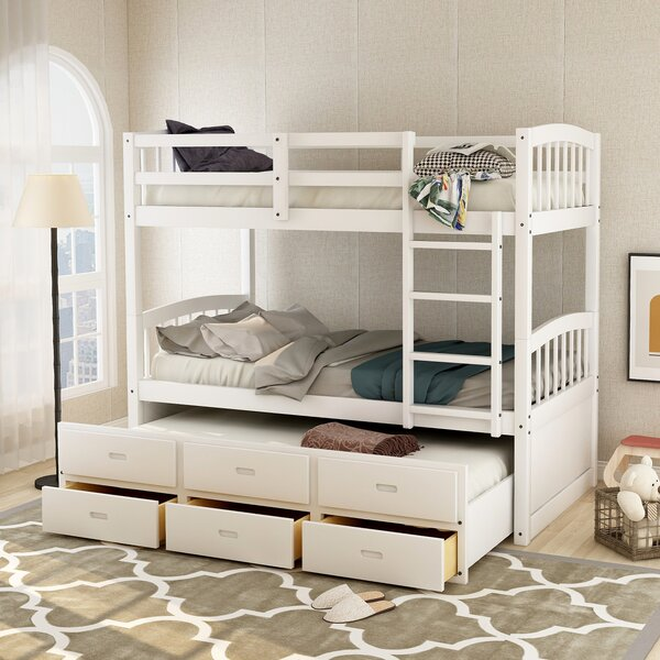 Hansford Twin over Twin Triple Bed with Trundle by Harriet Bee