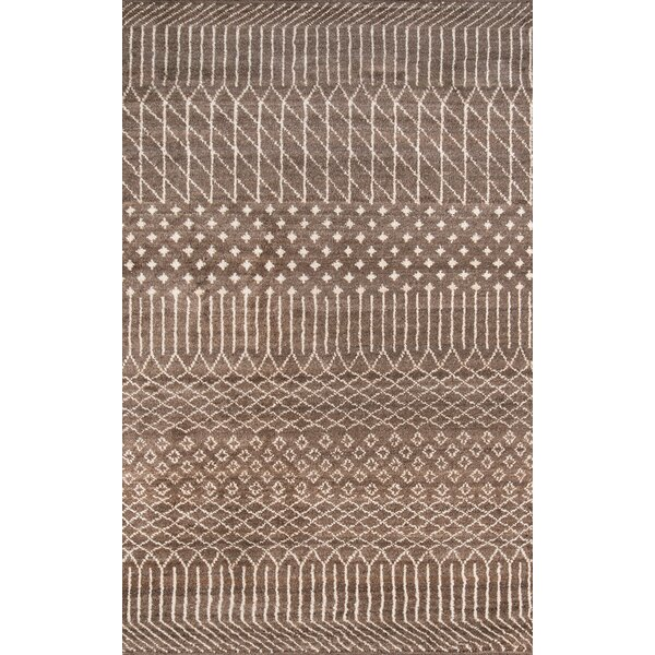 Allens Hand-Knotted Brown Area Rug by Bungalow Rose