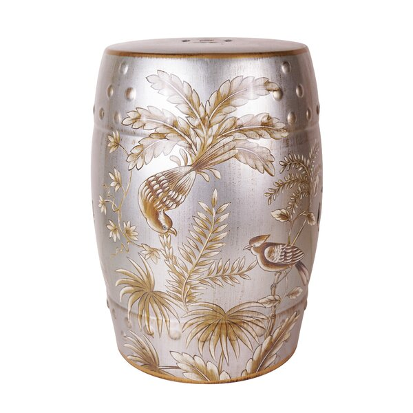 Moumoune Ceramic Garden Stool by Bayou Breeze