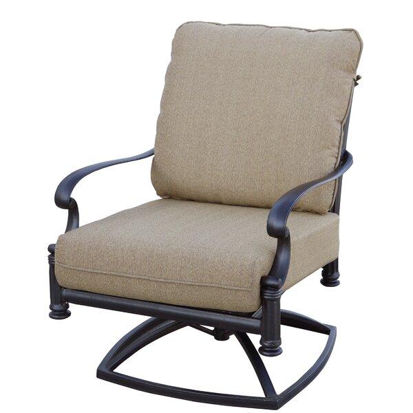 Batista Rocker Swivel Patio Chair with Cushion (Set of 2) by Fleur De Lis Living