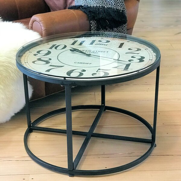 Kaylynn Industrial Clock End Table By Williston Forge