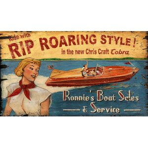 Chris Craft Vintage Advertisement Plaque by Red Horse Arts
