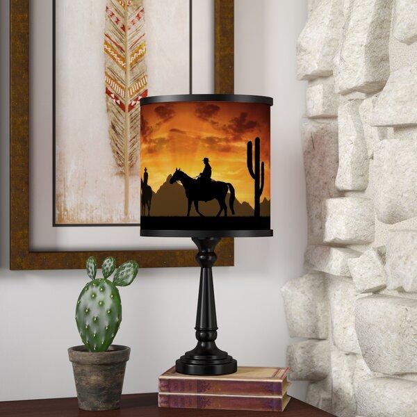 Casia Western Cowboys 18.5 Table Lamp by Loon Peak