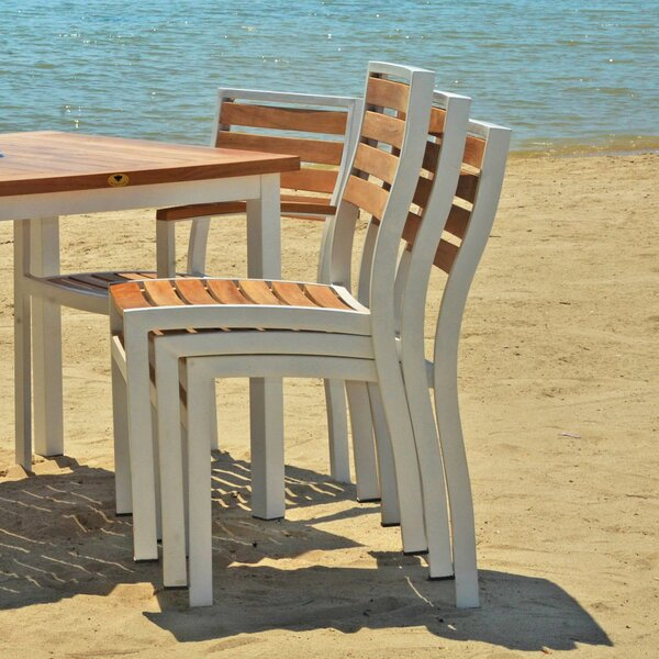 Catalina Outdoor Armless Stacking Teak Patio Dining Chair (Set of 2) by Beespoke