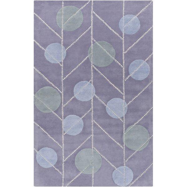Idina Geometric Hand-Tufted Mauve Area Rug by Harriet Bee