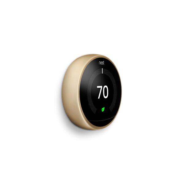 Google Nest Brass Wi-Fi Enabled Thermostat By Google Nest