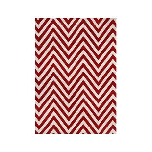 Shedd Hand-Tufted Red/White Area Rug ByThe Conestoga Trading Co.
