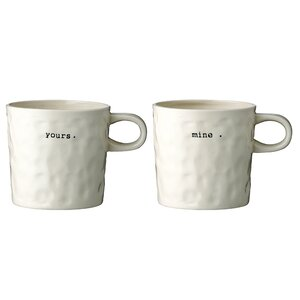 2 Piece Ceramic Mug Set