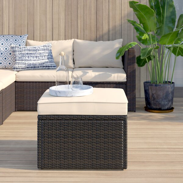 Belton Outdoor Ottoman With Cushion By Mercury Row by Mercury Row Modern