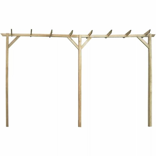 Arley 2.05m x 4m x 0.4m Wood Pergola Sol 72 Outdoor