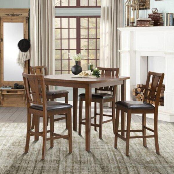 Ean 5 Piece Counter Height Dining Set by Rosalind Wheeler Rosalind Wheeler