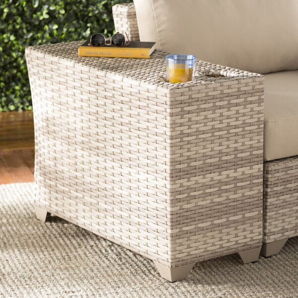 Falmouth Rattan Side Table by Sol 72 Outdoor