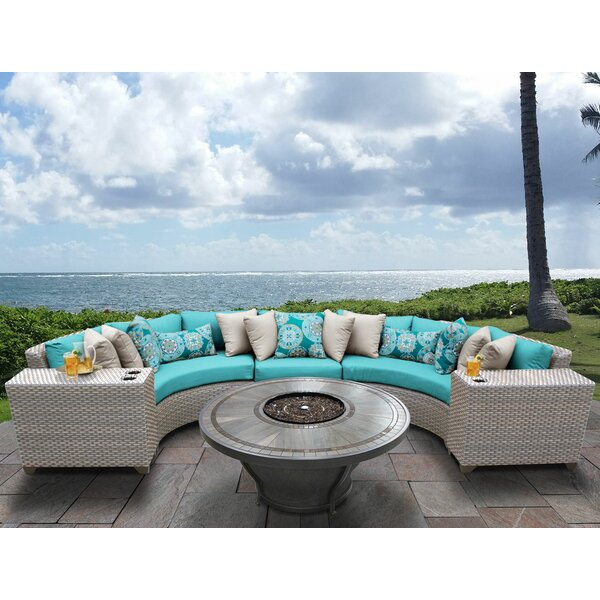 Romford 6 Piece Sectional Seating Group with Cushions by Sol 72 Outdoor Sol 72 Outdoor