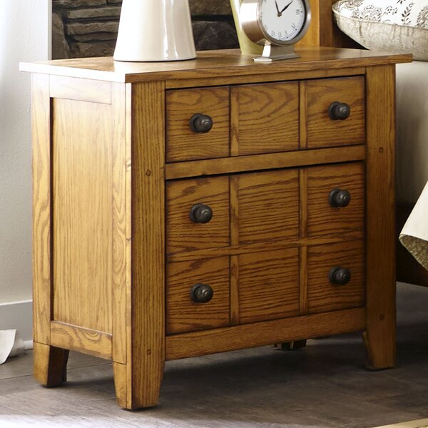 Grandpas Cabin 2 Drawer Nightstand By Millwood Pines by Millwood Pines Cool