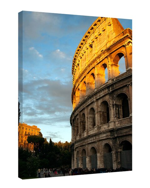 Rome Colosseum Photographic Print on Canvas by Colossal Images