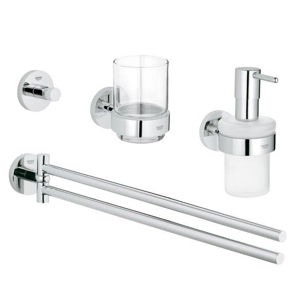 Essentials 4 Piece Bathroom Hardware Set by Grohe