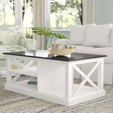 Vinewood Solid Wood Floor Shelf 1 Coffee Table by Beachcrest Home