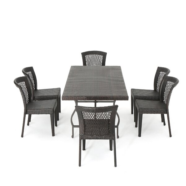 Clausen Realmuto Wicker 7 Piece Dining Set by Ivy Bronx