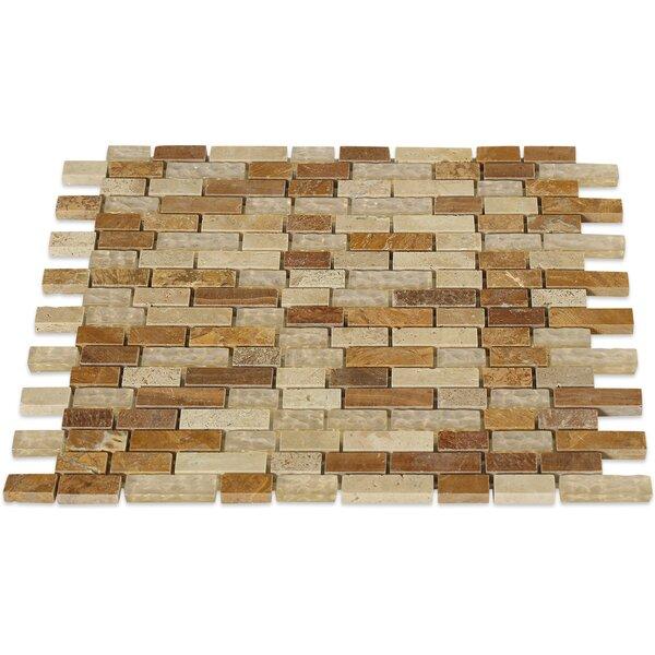 Desert Random Sized Mixed Material Mosaic Tile in Tan by Splashback Tile