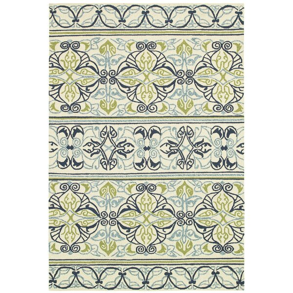 Locklin Hand-Woven Ivory Indoor/Outdoor Area Rug by Beachcrest Home