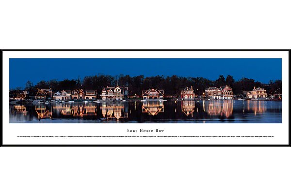Icon Boat House Row by James Blakeway Framed Photographic Print by Blakeway Worldwide Panoramas, Inc